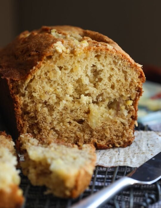 Soft and Moist Pineapple Banana Bread