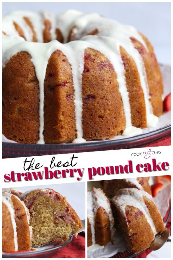 The Best Strawberry Pound Cake