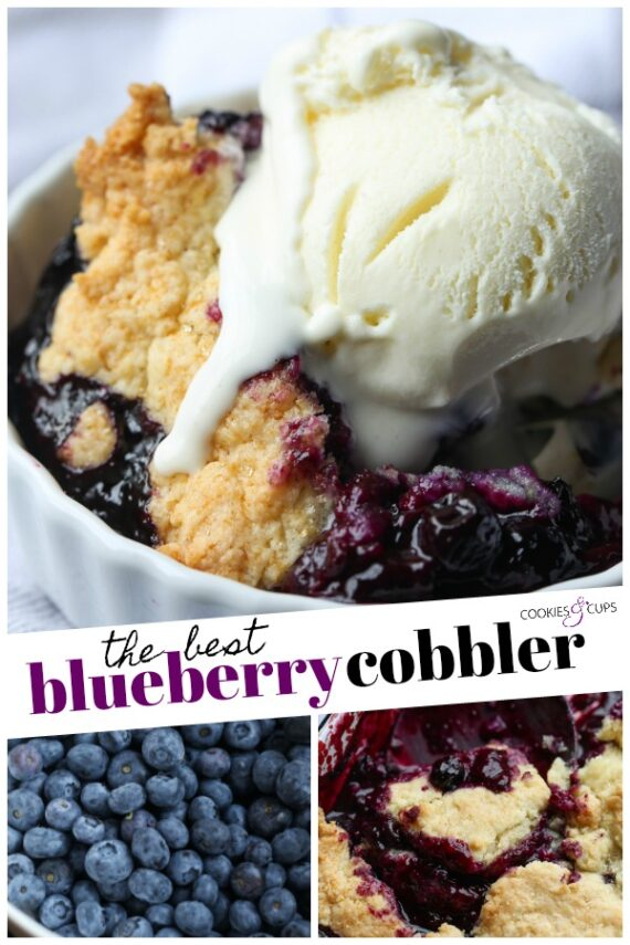 The Best Blueberry Cobbler