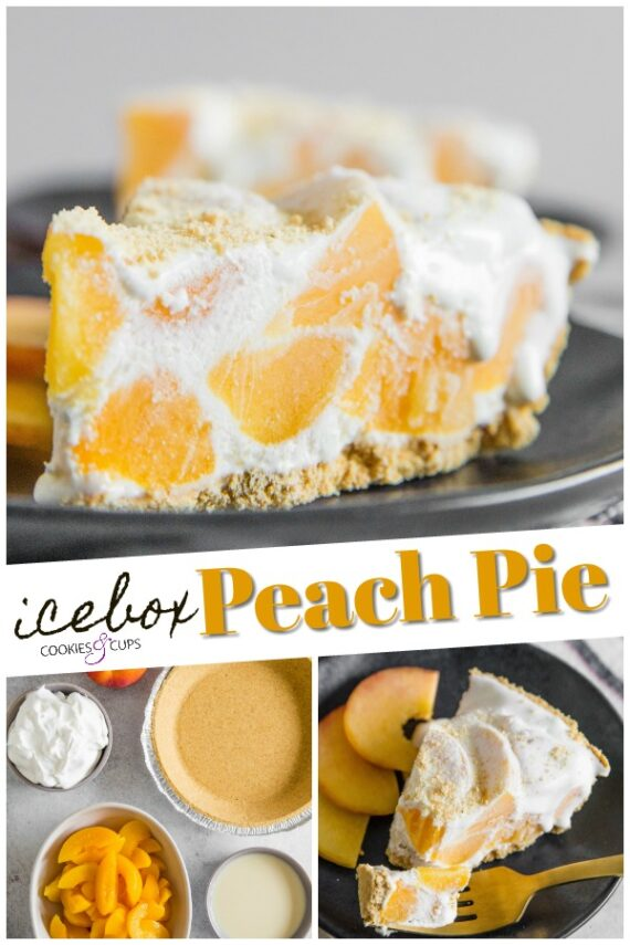 Easy No Bake Icebox Peach Pie Recipe
