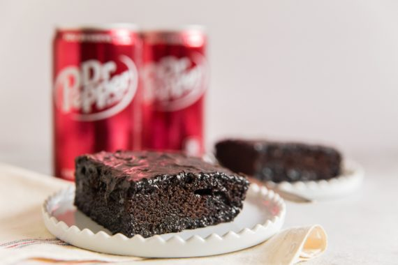 Easy Chocolate Cake Recipe made with Dr Pepper