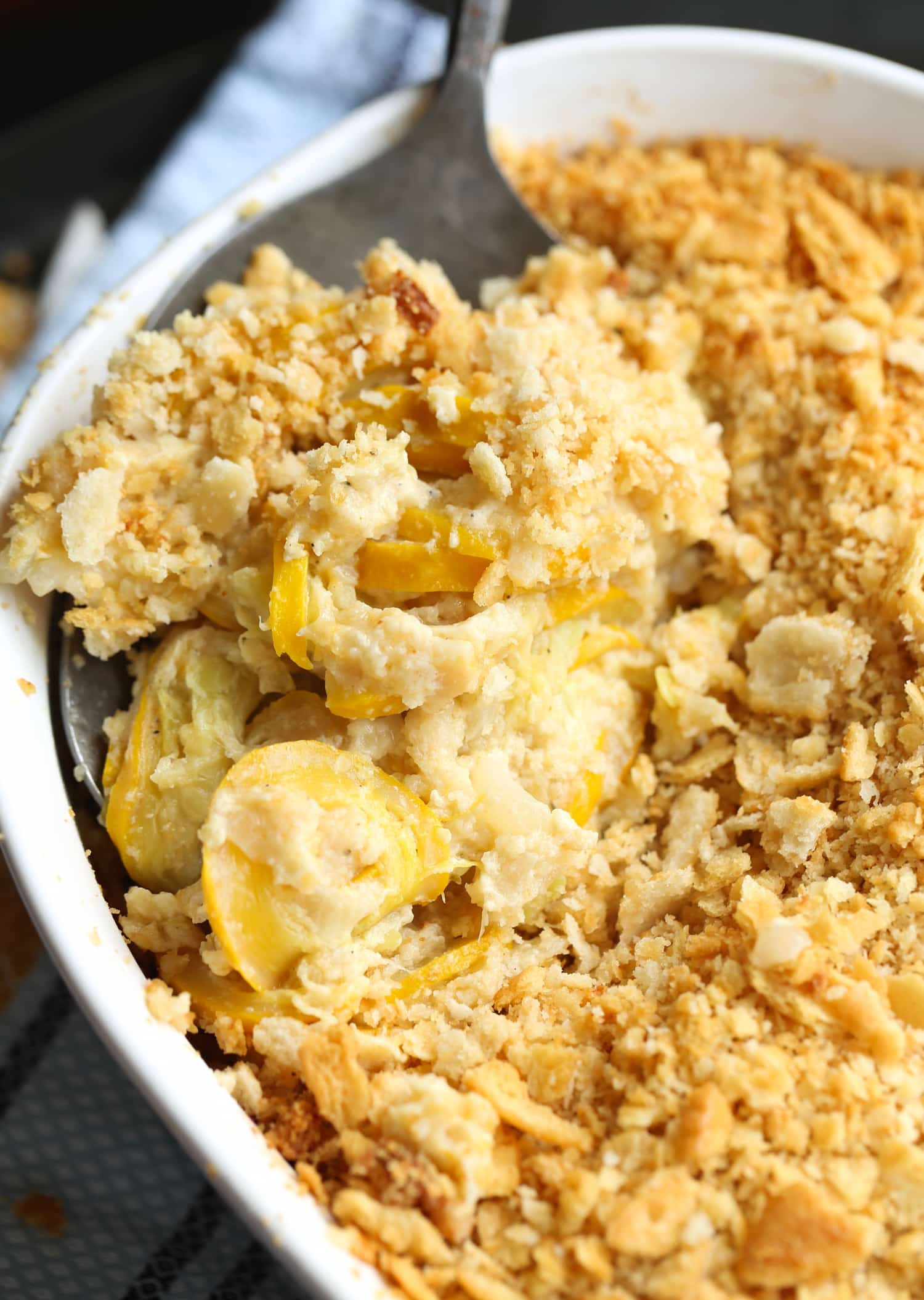 Yellow Squash Casserole is creamy and loaded with summer squash