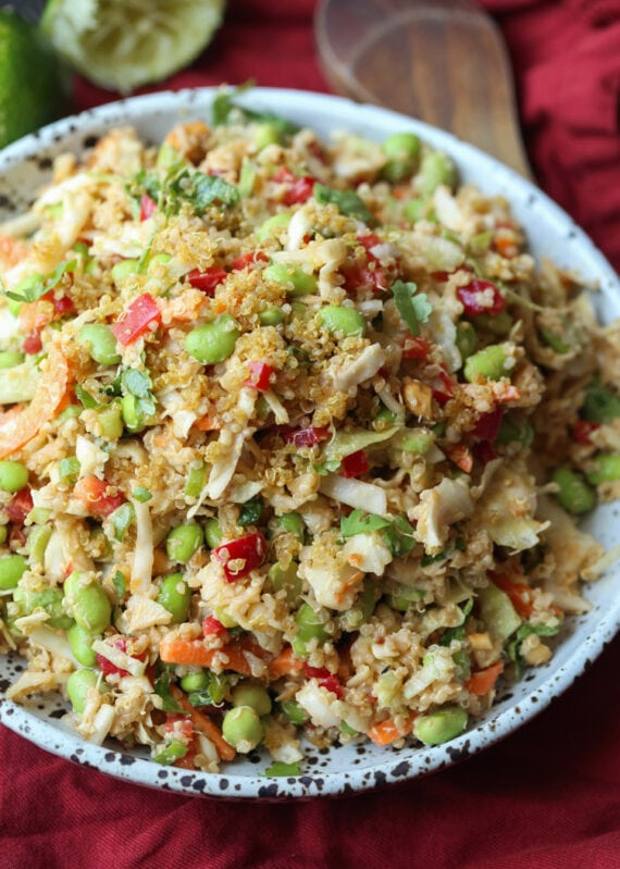 Thai Quinoa Crunch Salad is an easy quinoa salad refcipe