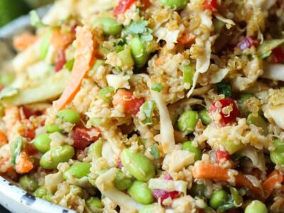 Thai Quinoa Crunch Salad is a protein packed quinoa salad recipe