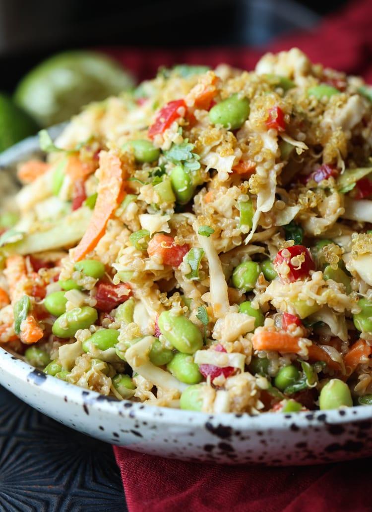 Thai Quinoa Crunch Salad is a protein packed quinoa salad recipe