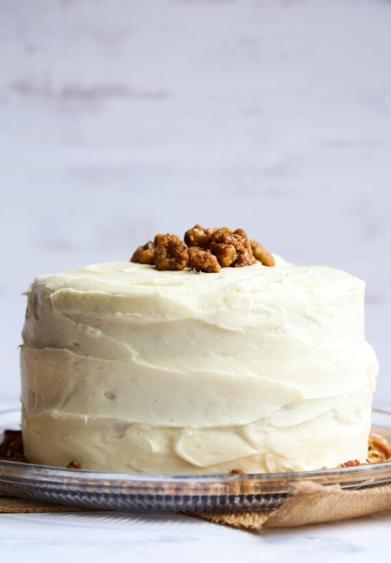 Cream Cheese Frosting on moist and easy Hummingbird Cake
