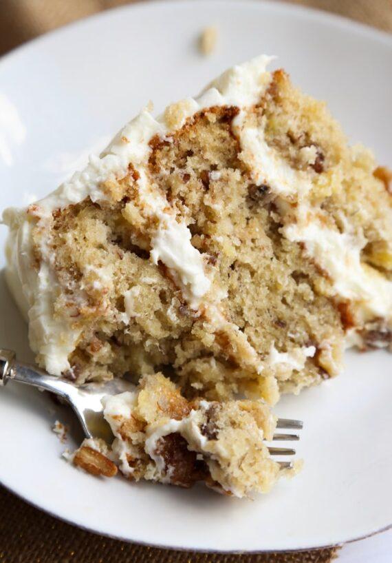 Sliced Hummingbird Cake Recipe