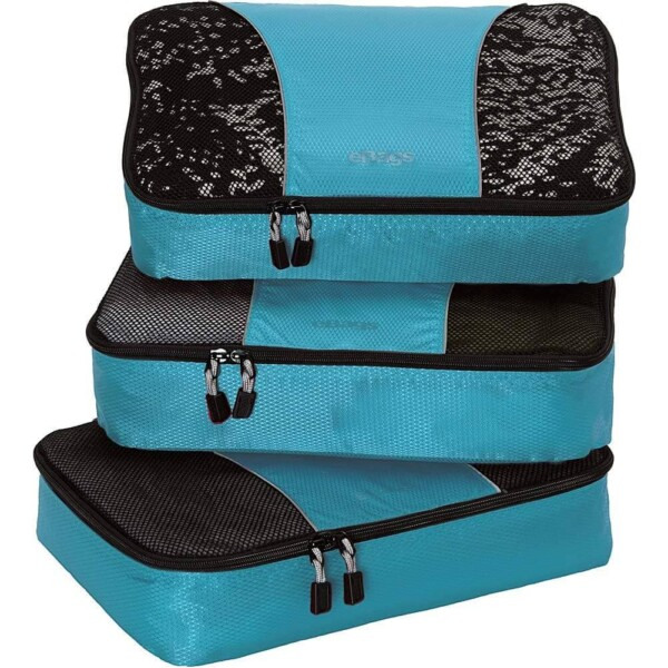 eBags Medium Classic Packing Cubes for Travel - 3pc Set