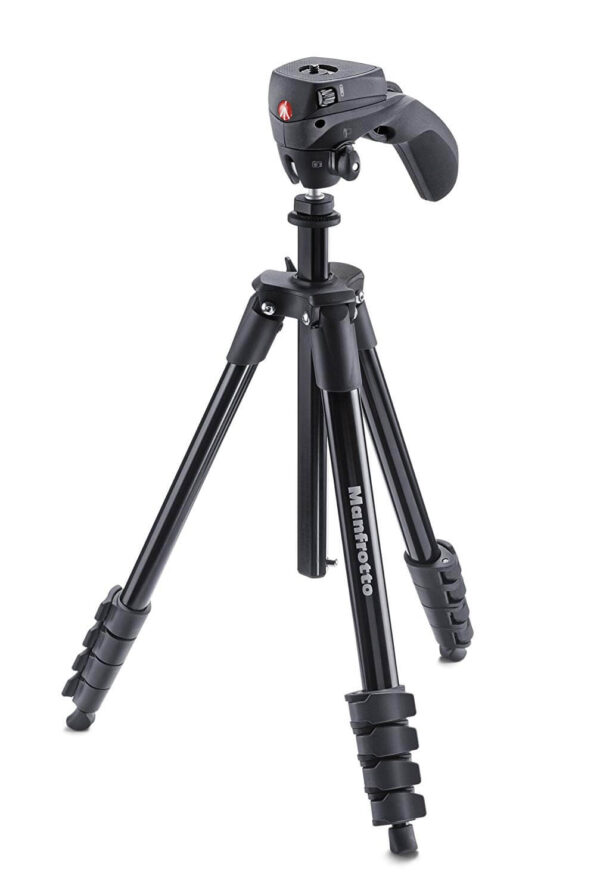 Manfrotto Compact Action Aluminum 5-Section Tripod