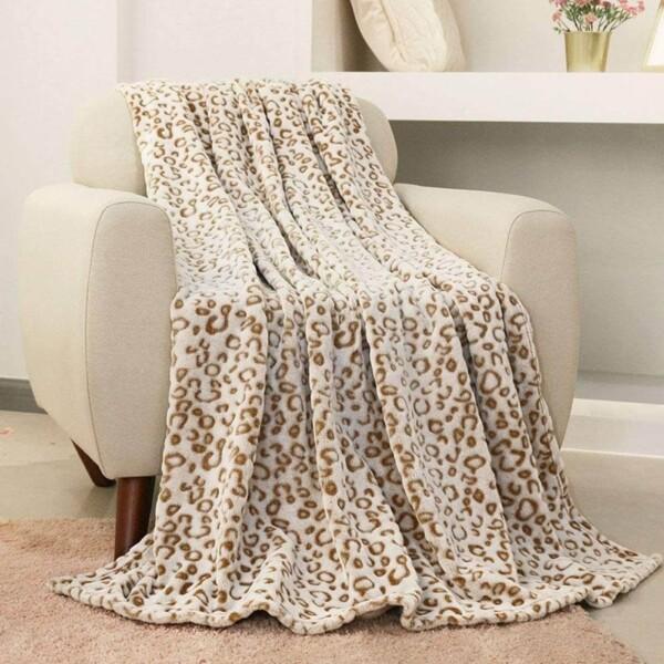 FY FIBER HOUSE Flannel Fleece Throw Microfiber Blanket