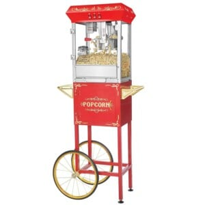 Great Northern Popcorn Red Foundation Popcorn Popper Machine Cart
