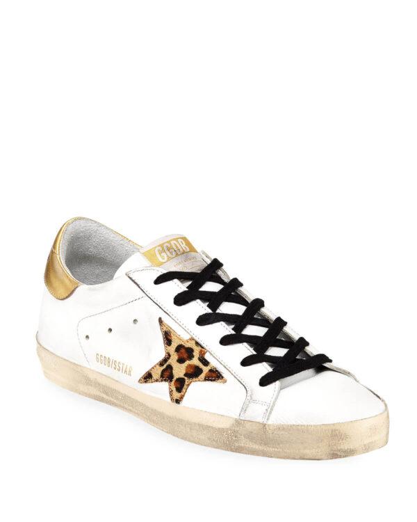 Golden Goose Superstar Leopard-Star Sneakers