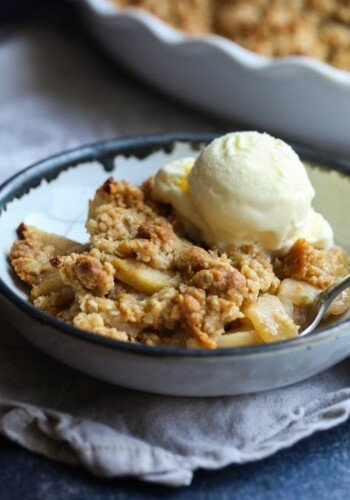 Image of Easy Old Fashioned Apple Crisp & Vanilla Ice Cream