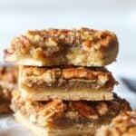 Pecan Pie Bars are an easy fall baking recipe.