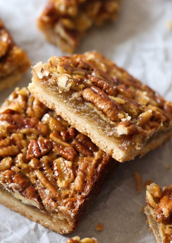 Pecan Pie Bars are an easy alternative to Pecan Pie