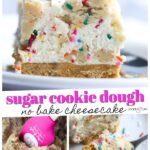 No Bake Cookie Dough Cheesecake Pinterest Image