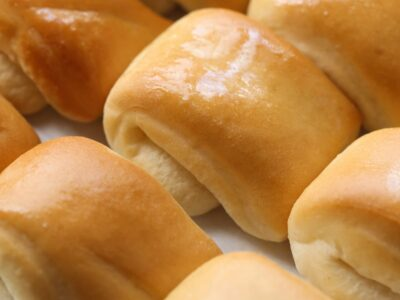Parker House Rolls Brushed With Butter