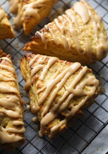 Pumpkin Scones with Brown Sugar Icing