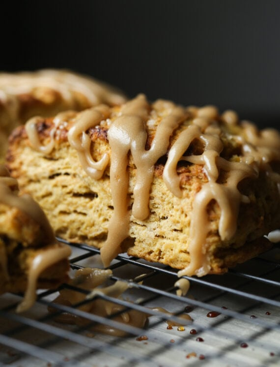 Pumpkin Scones with flaky layers