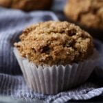 Bran Muffins with turbinado sugar baked on top