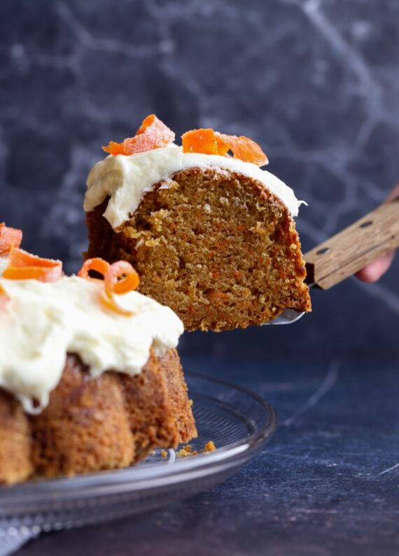 Slice of Carrot Cake Pound Cake