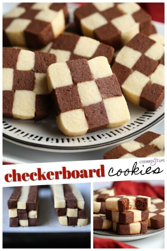 Checkerboard Cookies Pinterest Image