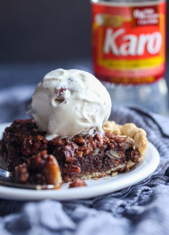 Chocolate Pecan Pie with Ice Cream