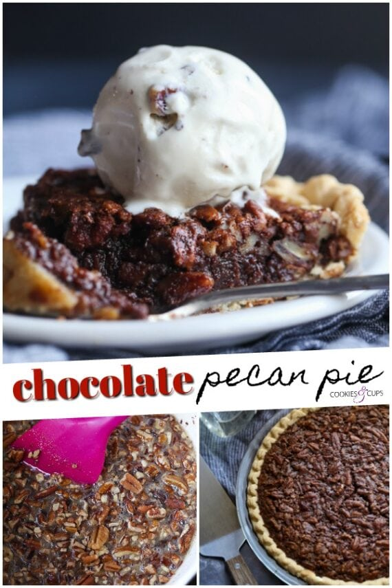 Chocolate Pecan Pie Pinterest Image
