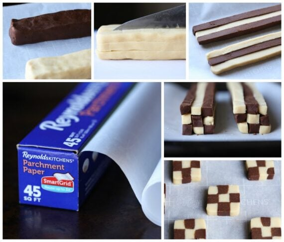 Step by step how to make checkerboard cookies
