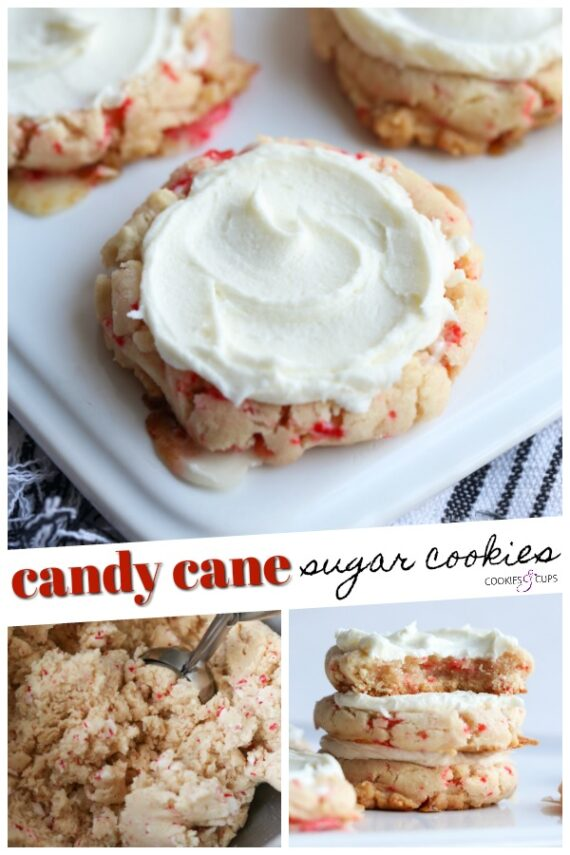 Candy Cane Sugar Cookies Pinterest Image