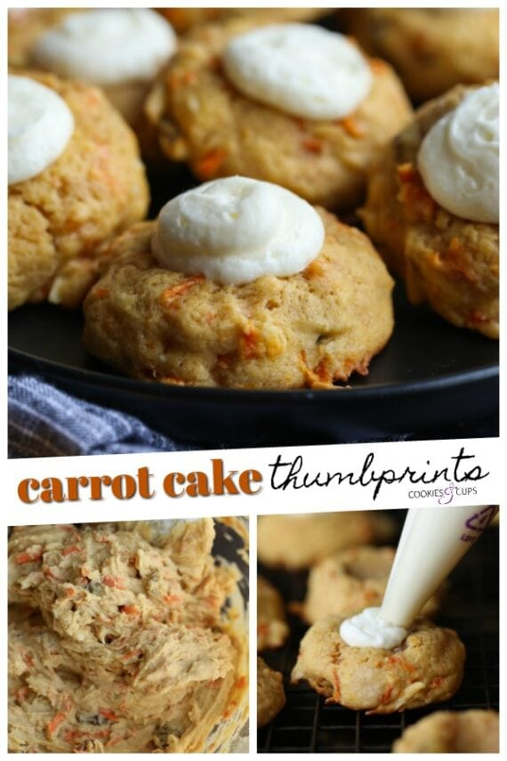 Carrot Cake Thumbprint Cookies Pin