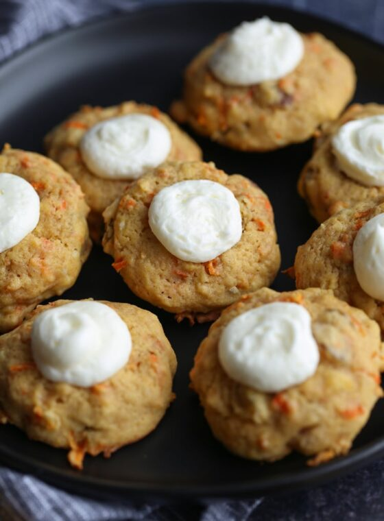 Carrot Cake Thumbprint Cookies