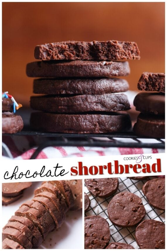 Chocolate Shortbread Pinterest Image