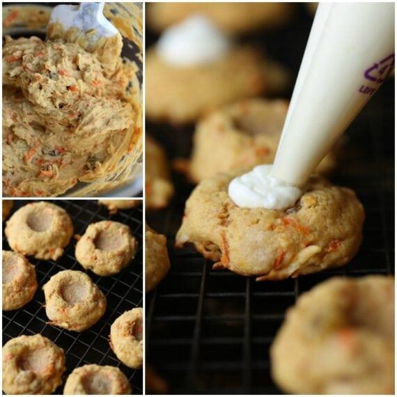 How To Make Carrot Cake Thumbprint Cookies