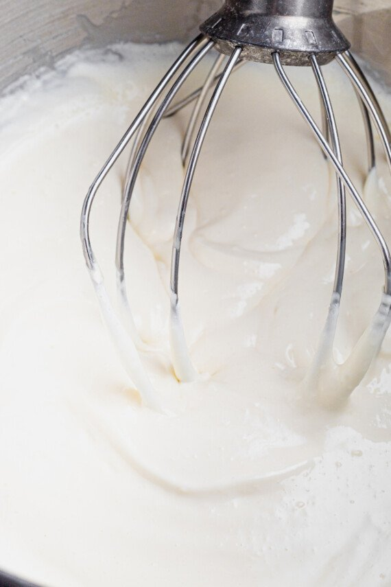 Cream cheese blended with sweetened condensed milk.