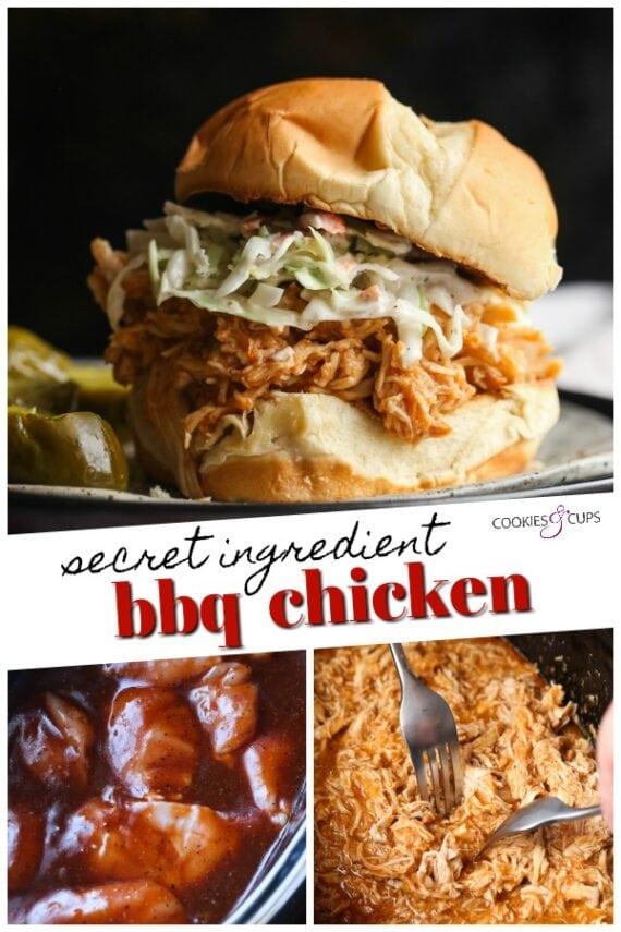 Crockpot Shredded Chicken Pinterest Image