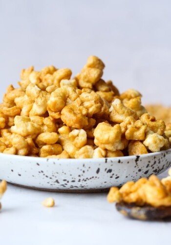 Bowl of Puffed Caramel Corn
