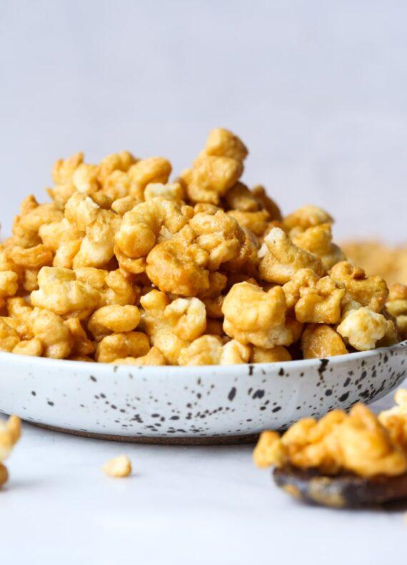 Bowl of Puffed Caramel Corn