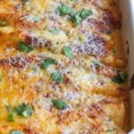 Sour Cream Chicken Enchiladas Baked in a 9x13 dish