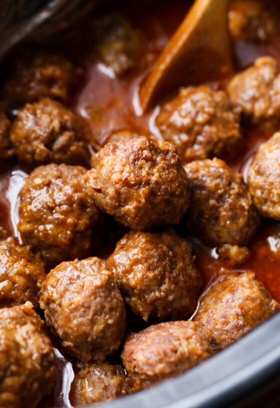 Cheesy Crockpot Meatballs