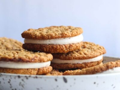 Homemade Oatmeal Cream Pies Stacked