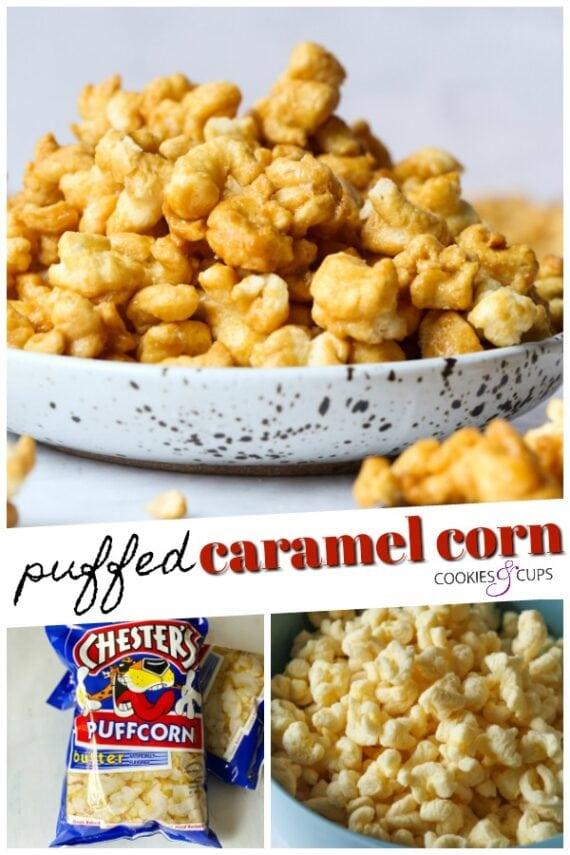 Puffed Caramel Corn Pinterest Image