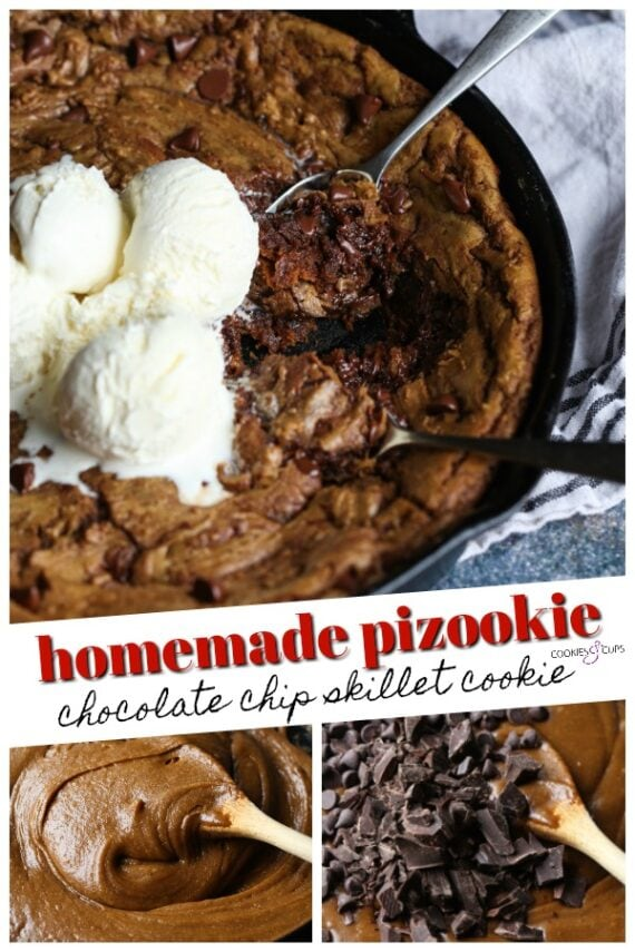 Homemade Pizookie Pinterest Image