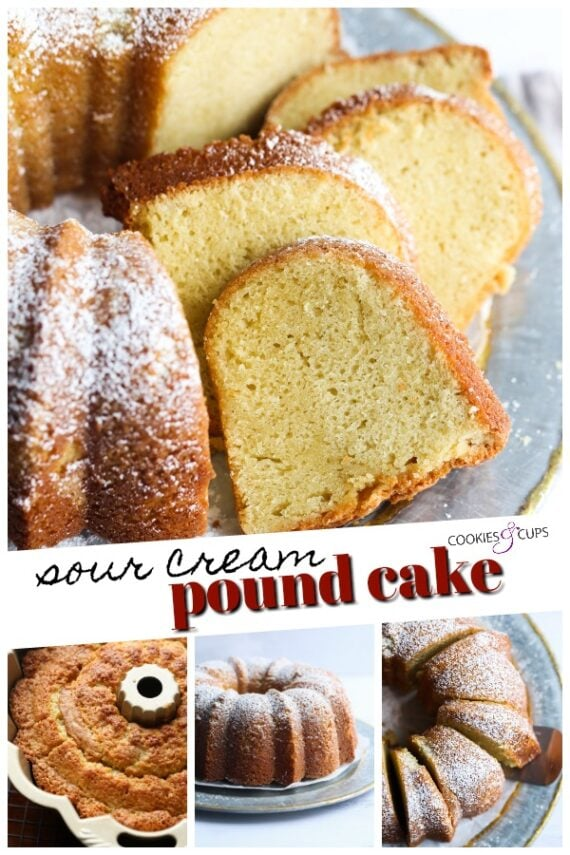Sour Cream Pound Cake Pinterest Image
