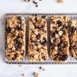 No Bake Granola Bars topped with chocolate chips