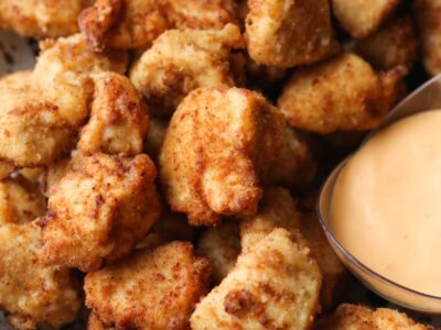 Homemade Chicken Nuggets with dipping sauce