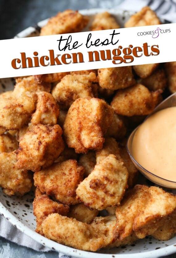 Homemade Chicken Nuggets Pinterest Image