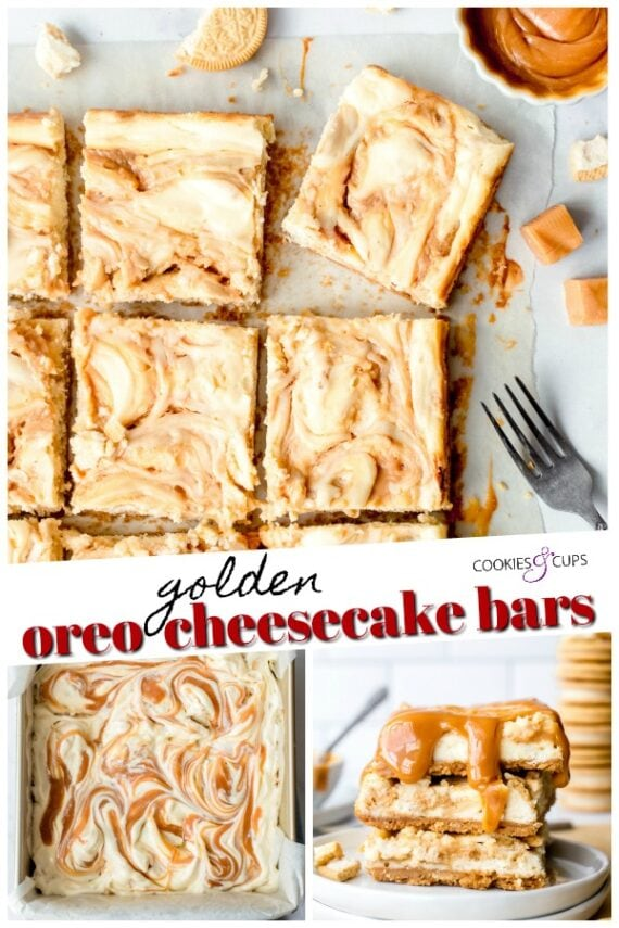 Golden Oreo Cheesecake Pinterest Image