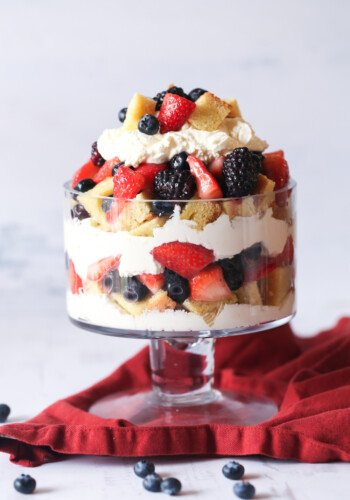 Assembled Berry Pound Cake Trifle