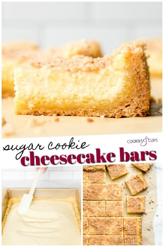Sugar Cookie Cheesecake Bars Pinterest Image